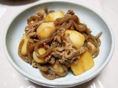 里芋と牛肉のすき煮