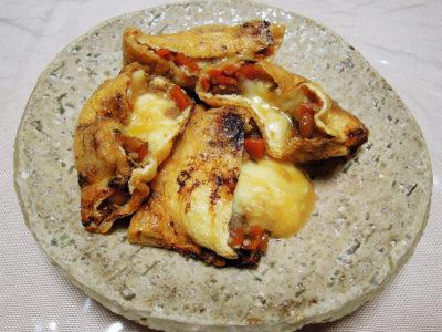 油揚げの麹納豆チーズ包み