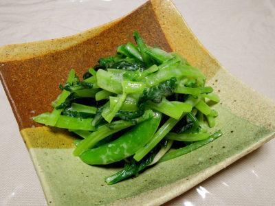 青菜のオリーブオイル酒粕和え