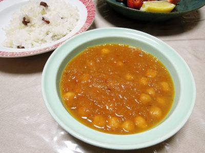 ガルバンソー(ひよこ豆/チャナ豆)のスパイスカレー