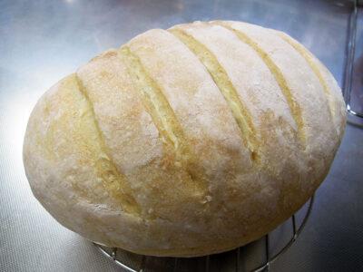 りんご酵母の中種を使った生地でつくった白いパン、ノルマーレ