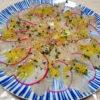 旬の柚子をじっくり発酵させて自家製塩ゆずをつくり、調味料として鶏の水炊きや豚肉と白菜の炒めもの、たかのは鯛のカルパッチョなどに使ってみる