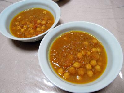 ひよこ豆のスパイスカレー
