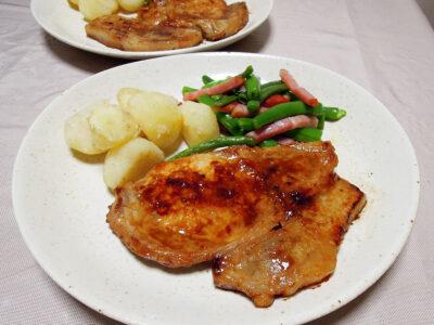 豚ロースの粕漬け焼き