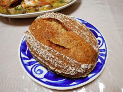 めばるのスープと自家製玄米酵母のカンパーニュ
