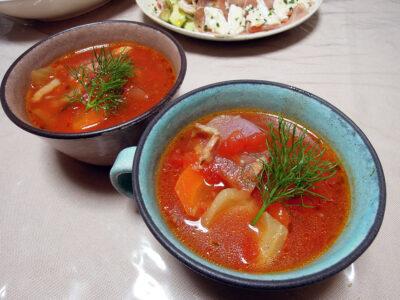 フェンネルを使ったトマトスープ