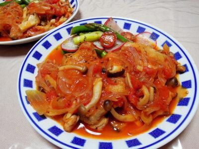 チキンカチャトーラと彩野菜のマリネ