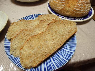 ロースト小麦胚芽を練り込んだ発芽玄米酵母のカンパーニュ