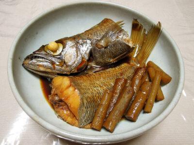 長崎県産の黒むつの煮つけ