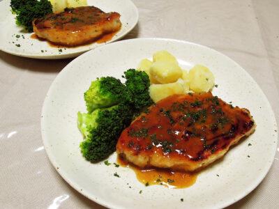 豚ロース肉のサルティンボッカ レモンバターソース