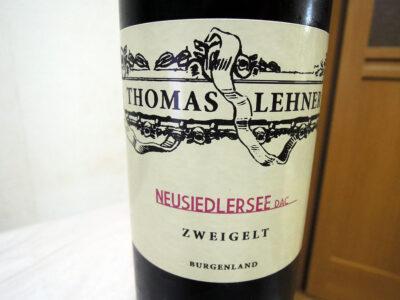 葡萄屋・関内店で購入した「トマス・レーナー ツヴァイゲルト ノイジードラーゼー 2014」のラベル